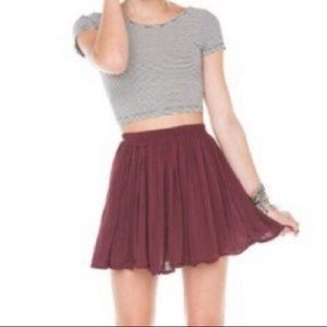 Brandy Melville Maroon/Burgundy Luma Mini Skirt